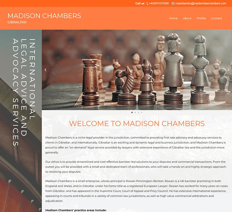 madisonlawchambers Website - Website Designer London