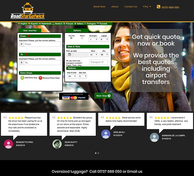 Road Star cabs Website | Website Designer London