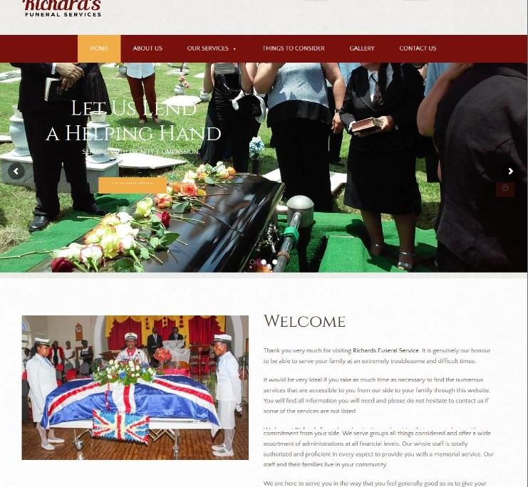 richardsfuneralservices.com | Website Designer London