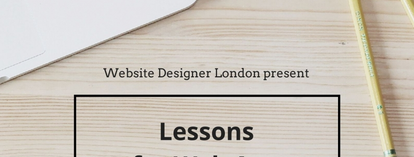 Lessons for Web App Designers